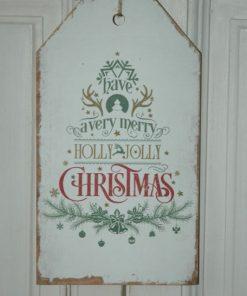 Houten label Christmas.