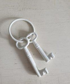Set witte sleutels. Klein