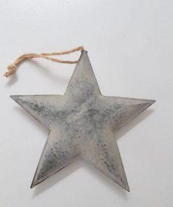 Zinken ster aan robuust touw.