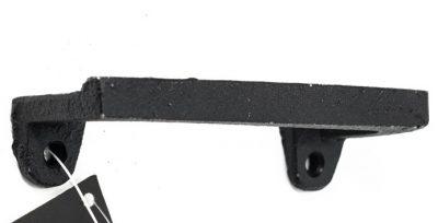 Zwart metalen greep. Middel