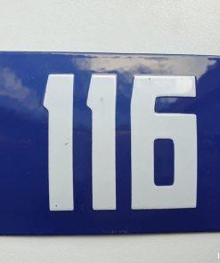 Oud emaille huisnummer. Nr 116