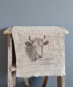 Shabby doek koe. 30x45