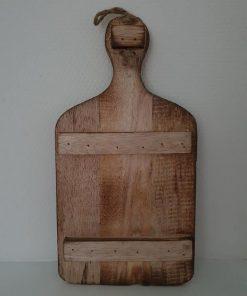 Decoratief houten snijplank. Leemkruik