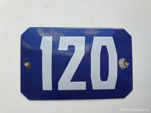 Oud emaille huisnummer. Nr 120