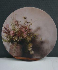 Muurcirkel bos bloemen. 18cm