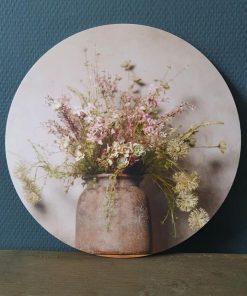 Muurcirkel bos bloemen. 30cm