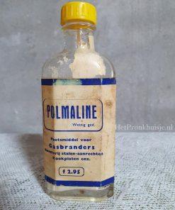 Oud glazen flesje van Polmaline.